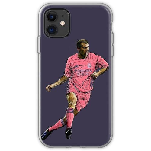 Zidane mit Madrid-Trikot 2020-2021 Flexible Hülle für iPhone 11