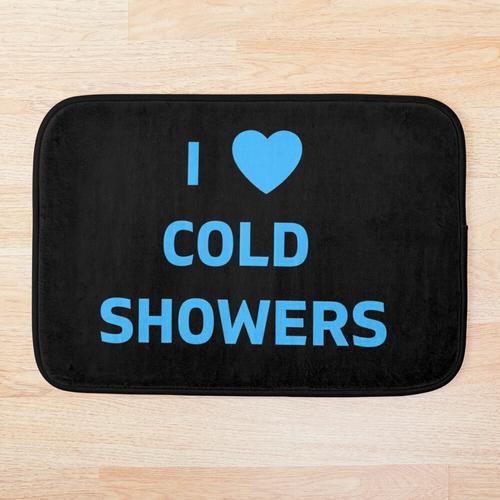 Ich liebe kalte Duschen Badematte
