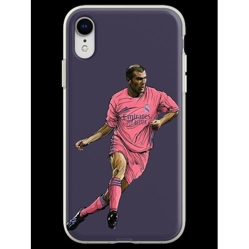 Zidane mit Madrid-Trikot 2020-2021 Flexible Hülle für iPhone XR