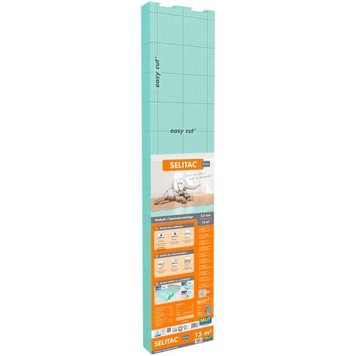 Selit Trittschalldämmplatte SELITAC, für Parkett-/Laminatböden, faltbar grün Zubehör Bodenbeläge Bauen Renovieren