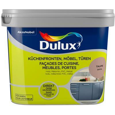 Dulux Holzlack Fresh Up, für Küchen, Möbel und Türen, taupe, 0,75 l braun Lacke Farben Bauen Renovieren