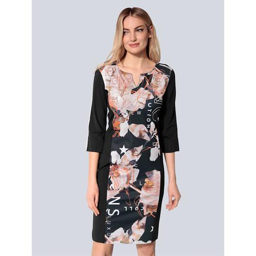 SPORTALM, Kleid mit offenen Kanten, schwarz