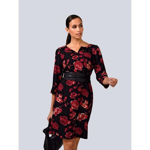 Alba Moda, Kleid mit Schlüssel-Loch, rot