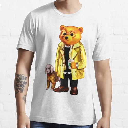 Elite Bär mit Kaffee und Hund Essential T-Shirt