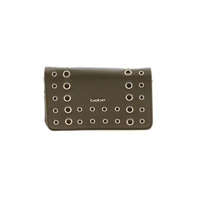 Bebe - Bebe Wallet: Green Solid Bags