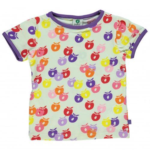 Smafolk - Kid's T-Shirt S/S Apple Gr 3-4 Years weiß
