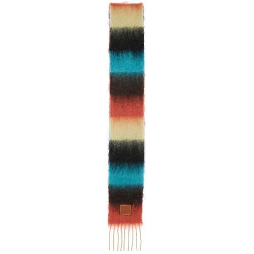 Loewe Schal Aus Mohairmischung Mit Streifen