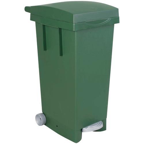 Mülleimer, BxTxH 370 x 510 790 mm, Inhalt 80 Liter, grün Mülleimer Küche Ordnung