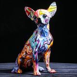 Statue de chien Chihuahua de cou...