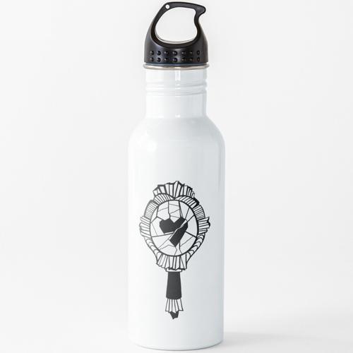 Zerbrochener Spiegel Wasserflasche