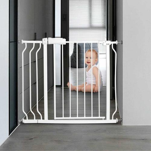 Treppenschutzgitter Babygitter weiss, Kindertreppen Gitter ohne Bohren, Schutzgitter erweiterbar