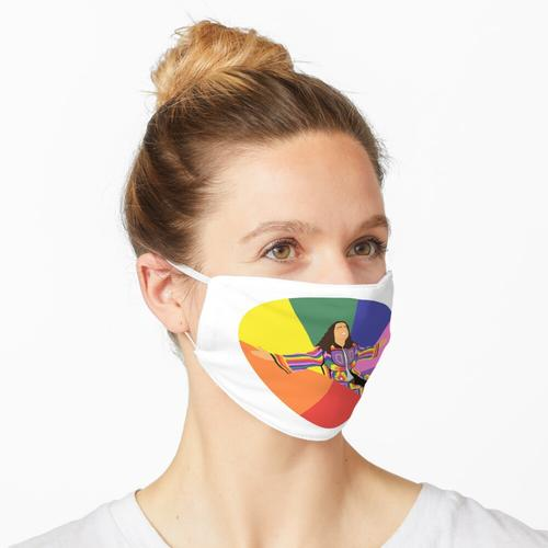 Joes bunter Mantel Maske