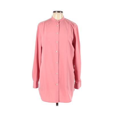 Lauren by Ralph Lauren - Lauren by Ralph Lauren Casual Dress - Shirtdress: Pink Solid Dresses - Used - Size Large