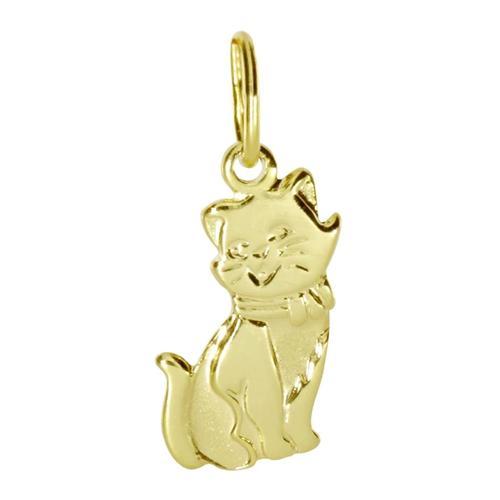Anhänger - Katze - Gold 333/000 - , OSTSEE-SCHMUCK gelb