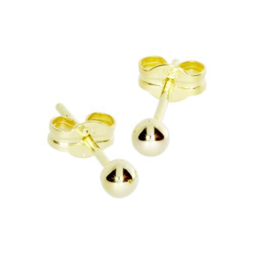 Ohrstecker - Kugel 3 mm - Gold 333/000 - , OSTSEE-SCHMUCK gold
