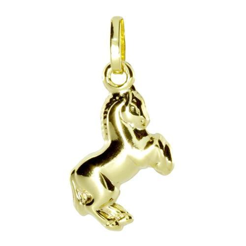 Anhänger - Pferd - Gold 333/000 - , OSTSEE-SCHMUCK gelb