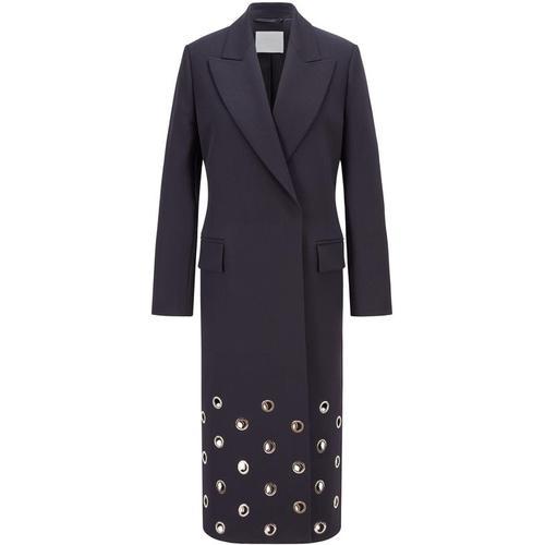 BOSS by Hugo Boss Relaxed-Fit Mantel aus italienischer Wolle mit Ösen-Details