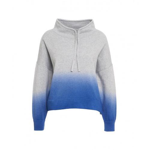360 Sweater Damen Hoodie im Farbverlauf Grau