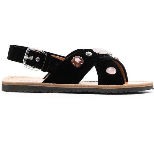 Car Shoe Sandalen mit Kristallen