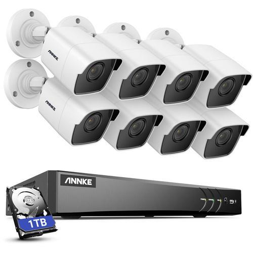 5MP HD 5-in-1 8CH DVR-Überwachungskamerasystem mit 8 * 5MP PIR-Außenkameras - 1 TB Festplatte