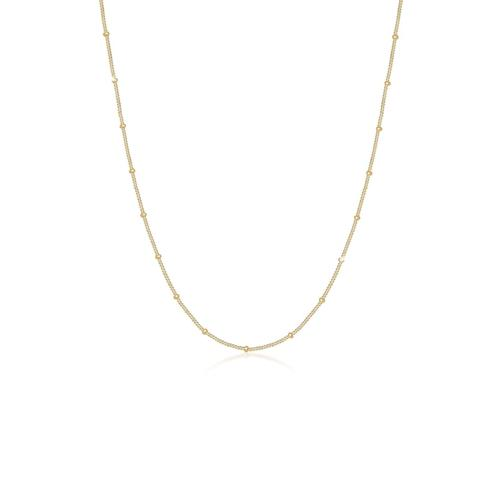 Halskette Basic Panzerkette Kugeln Trend Fein 925 Silber Elli Gold