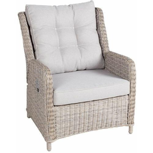 Geflecht-Sessel Jumbo inkl. Hocker, mit Auflage - Kölle