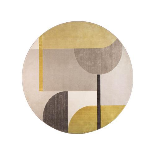 Zuiver »Hilton« Teppich grau/gelb 240 cm