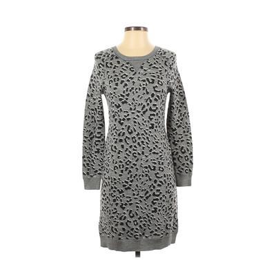 Ann Taylor LOFT Casual Dress - Sweater Dress: Gray Dresses - Used - Size Small Petite