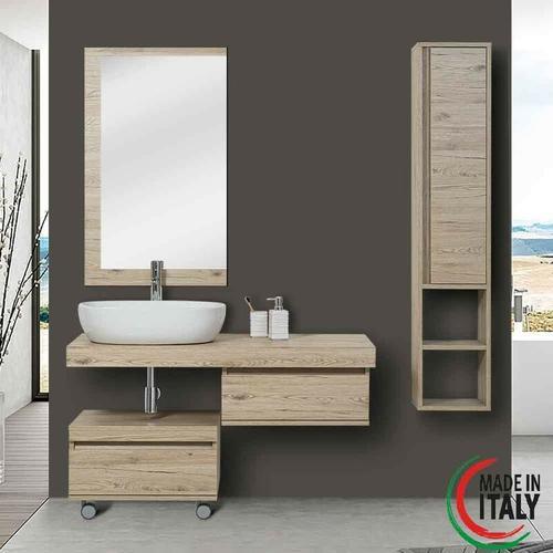 Suspendierte Badezimmerzusammensetzung shelf 801014 | helle Eiche - Feridras