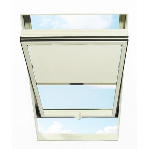 RORO Türen & Fenster Dachfensterrollo, blickdicht, BxL: 74x140 cm, weiß Dachfensterrollos Rollos Jalousien Dachfensterrollo