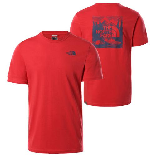 The North Face - S/S Redbox Celebration Tee - T-Shirt Gr S rot