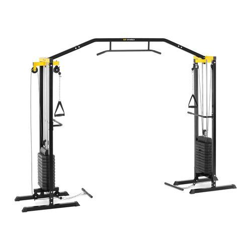 Gymrex Kabelzug - 150 kg - 24 x 6,8 kg Gewichte GR-CS 100