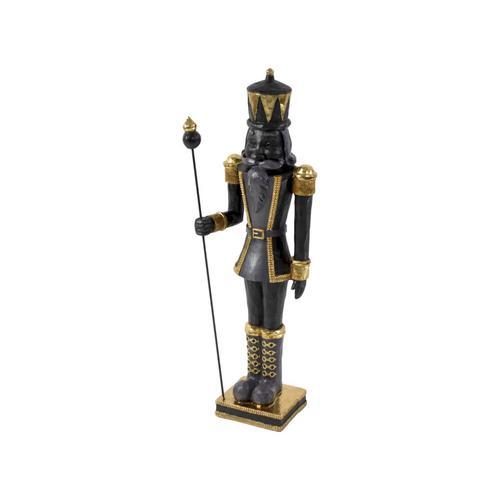 VOSS Design »Nussknacker« Figur in schwarz/gold 25x25x90 cm