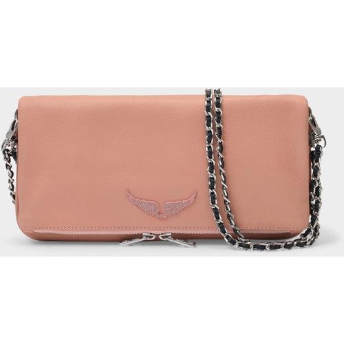 Zadig & Voltaire Tasche Rock aus rosafarbenem Leder
