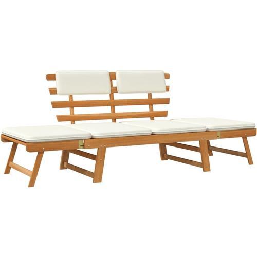 Betterlife - Gartenbank 2-in-1 mit Polstern 190 cm Massivholz Akazie