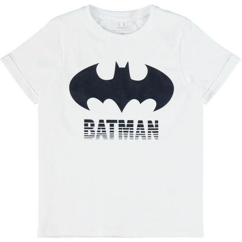 Batman T-Shirt BATMAN weiß Jungen T-Shirts Shirts Jungenkleidung