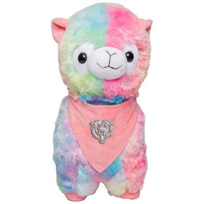 Chicago Bears Rainbow Bandana Llama Plush Toy