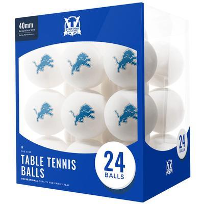 Detroit Lions 24-Count Logo Table Tennis Balls