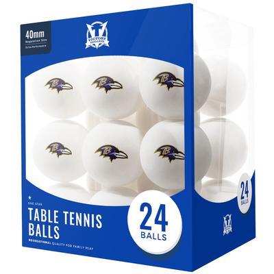 Baltimore Ravens 24-Count Logo Table Tennis Balls