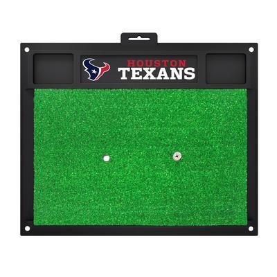 Green Houston Texans 20'' x 17'' Golf Driving Range Mat