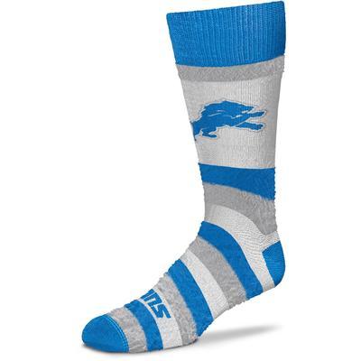 Women's Detroit Lions For Bare Feet Pro Stripe Crew Socks