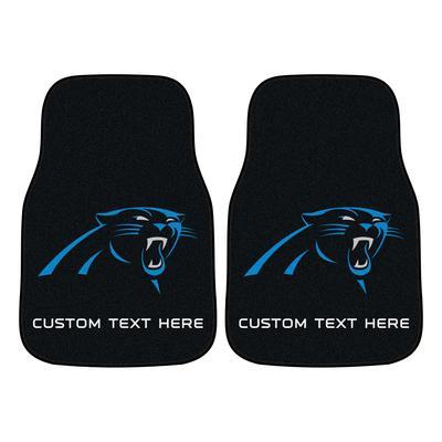 Carolina Panthers 17'' x 27'' Personalized 2-Piece Carpet Car Mat Set