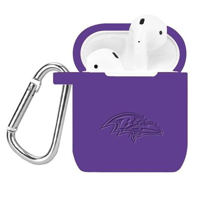 Baltimore Ravens Purple Debossed Silicone AirPods Case Cover