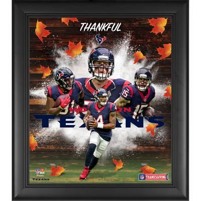 """Houston Texans Fanatics Authentic Framed 15"""" x 17"""" Thanksgiving 2020 Collage"""
