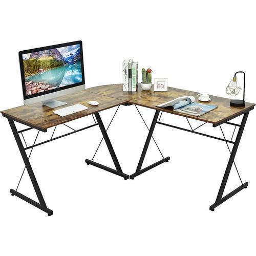L-Form Computertisch Schreibtisch Computerschreibtisch Buerotisch Ecktisch Winkelschreibtisch