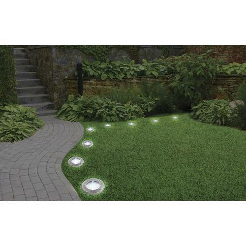 Solar LED Leuchte Disk Lights - 4 Stück - Mediashop