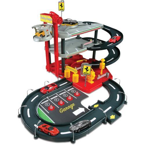 Bburago Spiel-Parkgarage ParkingGarage, inklusive 2 Fahrzeuge bunt Kinder Zubehör für Spielzeugautos Autos, Eisenbahn Modellbau