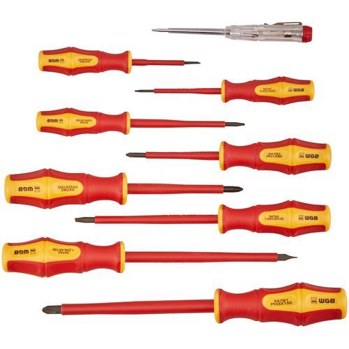 WGB Das Werkzeug Schraubendreher, VDE-Garnitur, Stahl rot Schraubendreher Maschinen