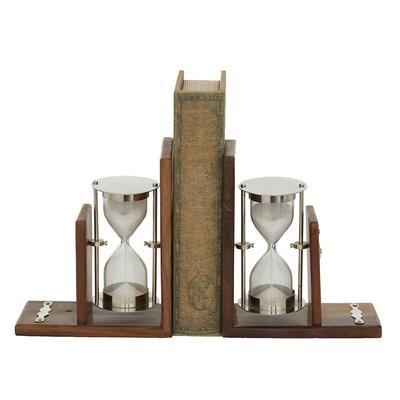 Brown Aluminum Coastal Bookends, 7x6x3 - 18926