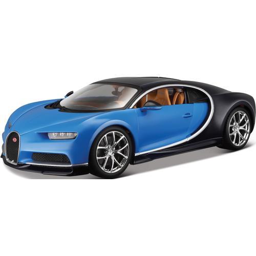 Bburago Sammlerauto Bugatti Chiron, 1:18 blau Kinder Modellautos Modellfahrzeuge Autos, Eisenbahn Modellbau